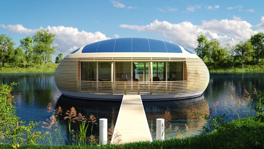 Water Nest 100, nasce a Londra la prima casa galleggiante ecosostenibile
